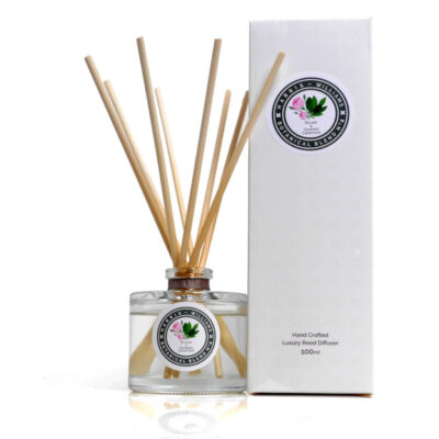 Rose & Green Leaves Reed Diffuser