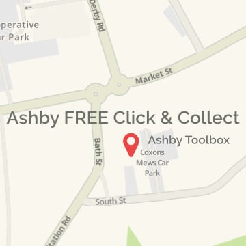Click & Collect is available from Ashby Toolbox, Ashby de la Zouch (parking available outside the shop).